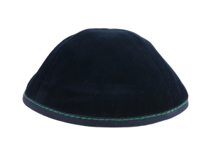 Custom Shoppe Navy Velvet with Green Stitching