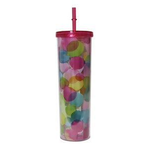 Acrylic Tumbler with Straw