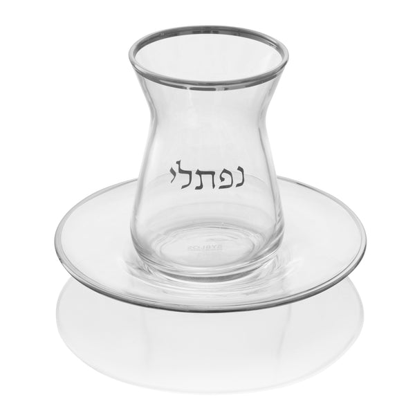 Personalized Glass Cup & Saucer 6 pk