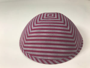 iKippah Grey/Burgundy Stripe