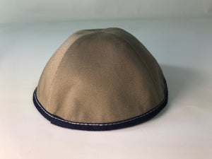Custom Shoppe Tan Cotton with Navy Rim & White Stitching