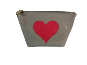 Pink Heart Makeup Bag