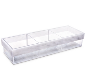 Marble Lucite Divider Sectional Tray
