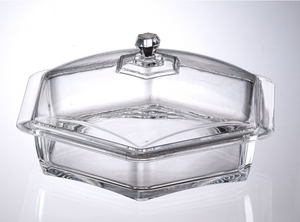 Hexagon Lucite Tray with Cover