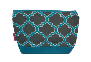 Grey/Turquoise Cosmetic Bag