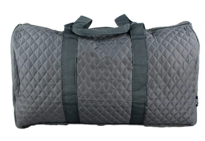 Grey Quilted Duffel Bag