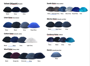 Two Tone Outline Yarmulke