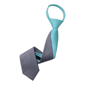 Two Tone Zipper Tie