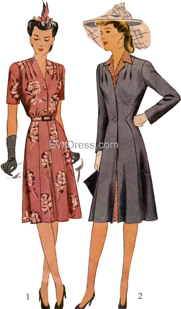 Dec. 26 - Dec. 30 The Week in Patterning - 55, Pattern Tour 1943 Dress & Redingote