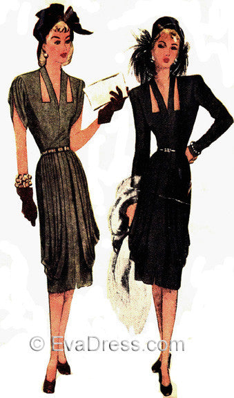 Nov. 7 - Nov. 11 The Week in Patterning - 48, Pattern Tour 1946 Dress with Cutouts
