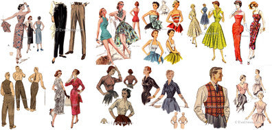 Aug. 15 - 19, The Week in Patterning - 35 'Flirty 50's' Pattern Challenge!