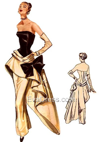 1951 Modes Royale Evening Gown