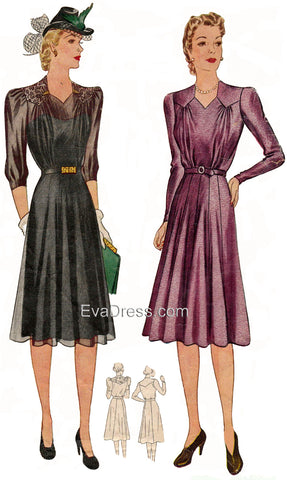 1940 Shirtwaist pattern, originally by Simplicity