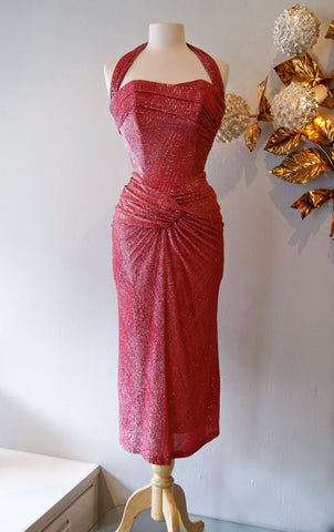 Late 40's Halter Dress