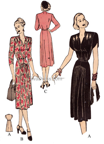 1947 Dress with Cutouts