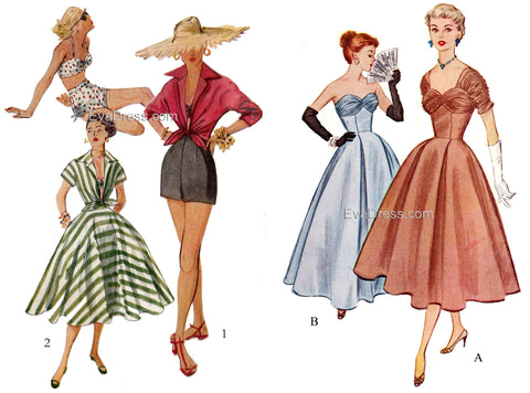 New 1950's Multi-size patterns!