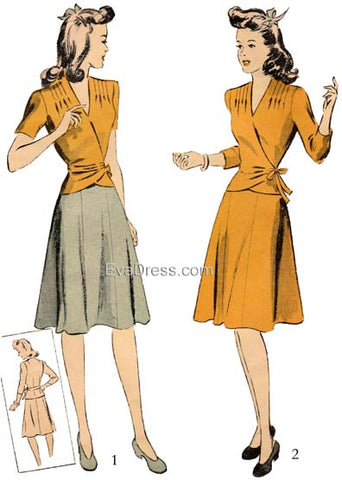 1942 Two-Piece Dress