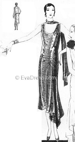 1929 Evening Frock & Scarf