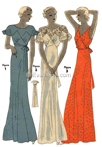 EvaDress Pattern NL30-7121, the 1933 Nightgowns