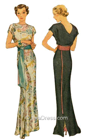 1935 Molyneux Evening Gown Pattern