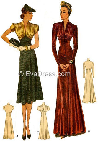 McCall 9906, 1938 Day or Dinner Dress (EvaDress D30-9906)