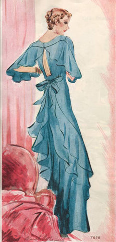 1934 McCall Finned Evening Gown