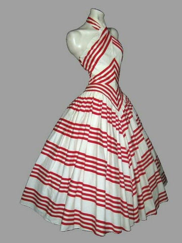 1950's Cross-front Halter Dress
