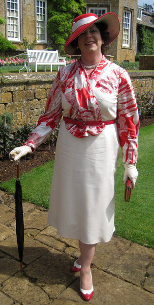 1935 Frock with Jabot D30-5281