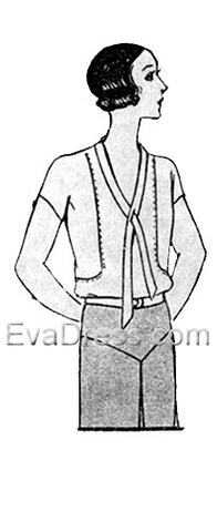 blouse coloring page - 1920s evadress patterns
