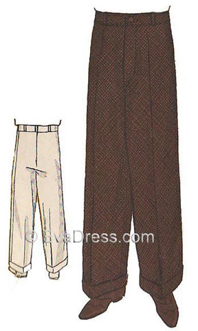 1934 Wide-Leg Trousers T30-1141PR