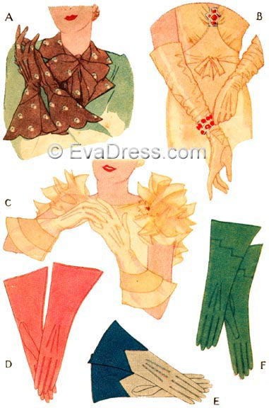 E-PATTERN 1933 Dressmaker Gloves E117
