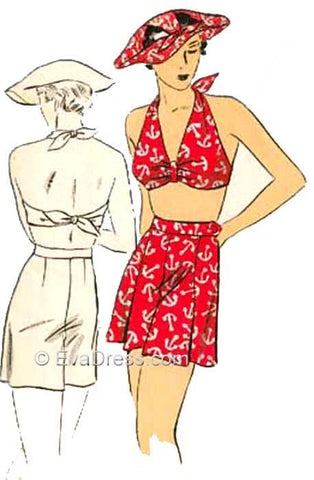 1934 Bandeau, Shorts & Hat Sp30-1212