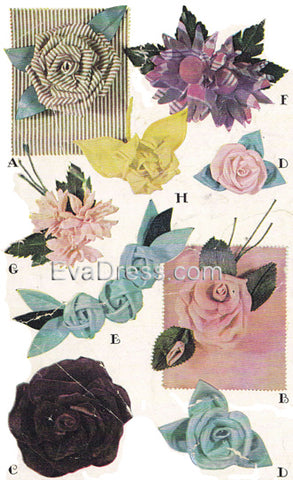 1946 Fabric Flowers Acc40-1246