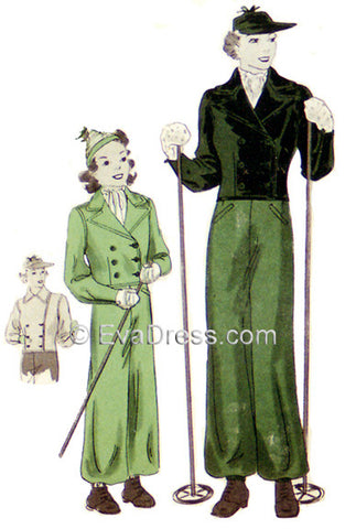 1936 Snow Suit Sp30-1263