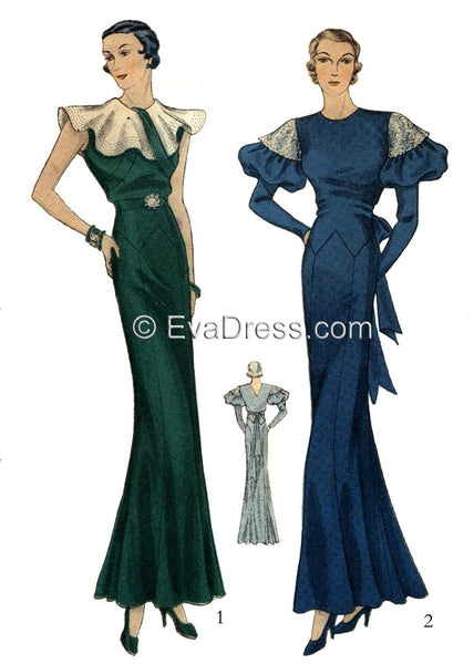 1933 Evening Gowns, E30-1325