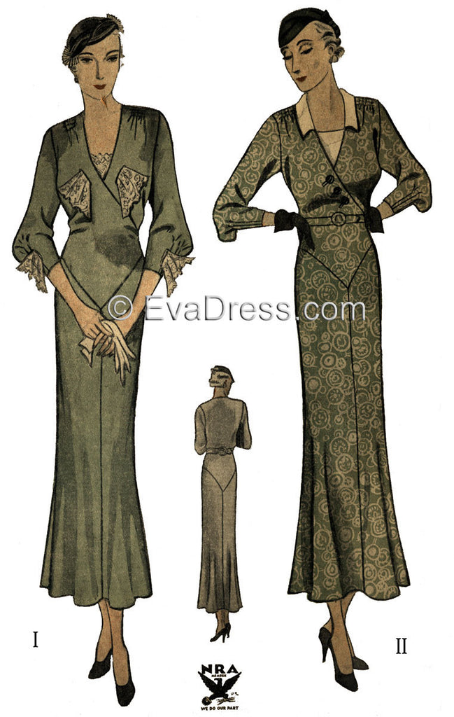 1934 Day or Tea Frock D30-1429