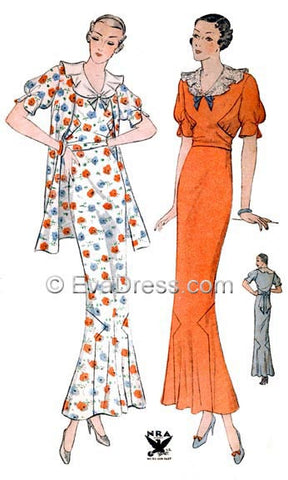 E-PATTERN 1934 Tea Frock & Jacket E1432