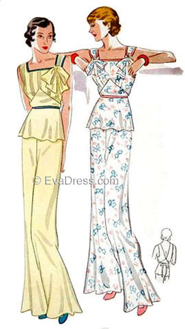 E-PATTERN 1935 Lounging Pajamas E1557