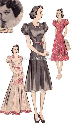 E-PATTERN 1939 One-Piece Frock, E1620