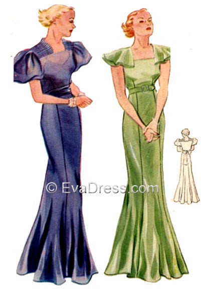 1934 Evening Gowns E30-1771