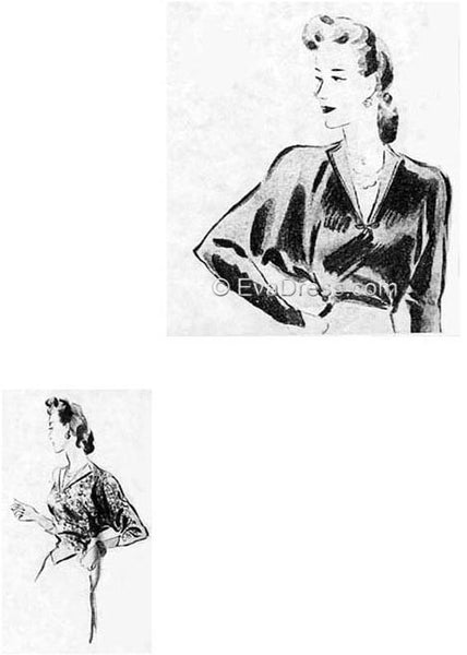 1942 One-Yard Blouse, B40-1811