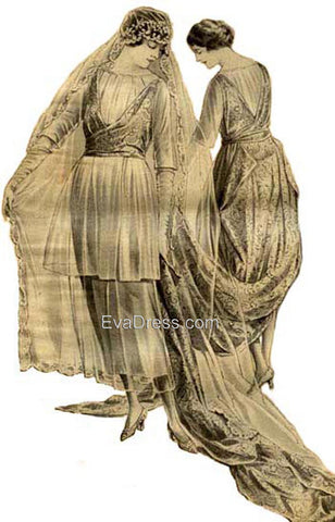 1920 Wedding Gown Br20-1920-5