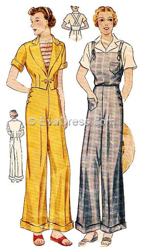 1936 Overalls/Trousers Ensemble T30-1930