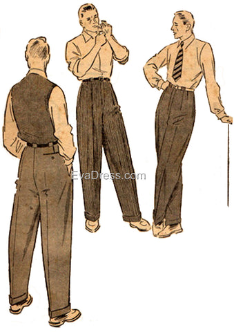 E-PATTERN 1950 Trousers E1950