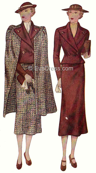E-PATTERN 1936 Ladies' Three-Piece Ensemble  E2165