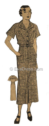 1934 Morning Frock, D30-2673