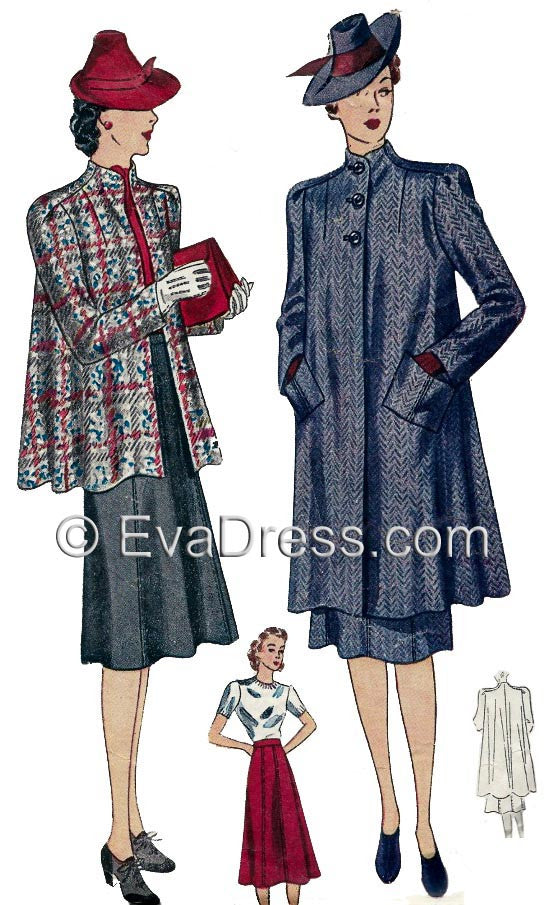 1939 Swagger Coat & Skirt C30-3181