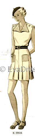 E-PATTERN 1935 Beach Sports Ensemble E3516