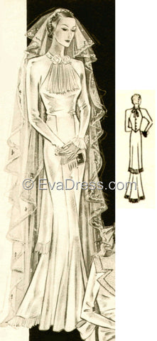 1935 Wedding Gown, Br30-35213