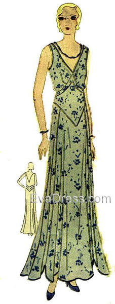 1930 Dress or Evening Gown D30-3521